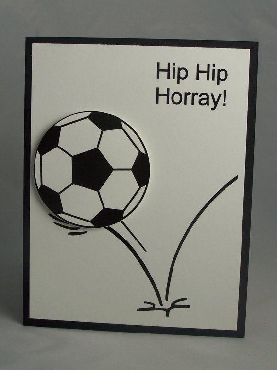 Handmade Greeting Card Soccer Birthday Card Son Daughter Childs