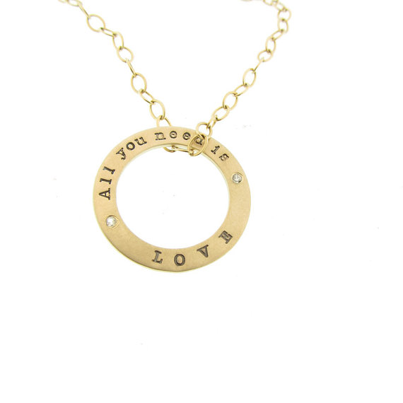 Gold Personalized Names Open Circle Charm