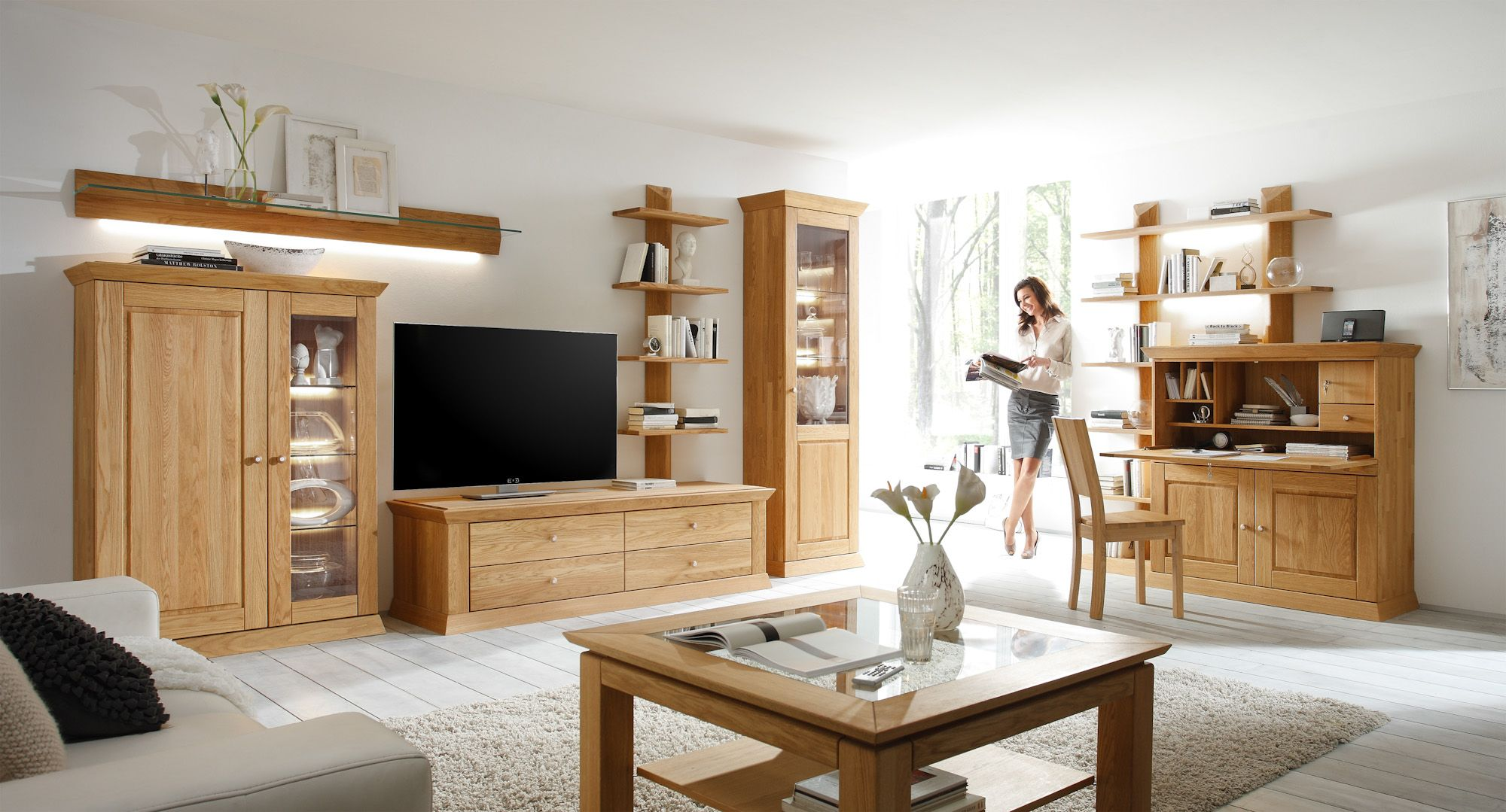 Wohnzimmermöbel massivholz ~ Landhaus wohnzimmer und speisezimmerprogramm massivholz bei