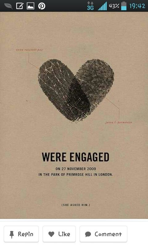 Awesome way to tell people that you're engaged.