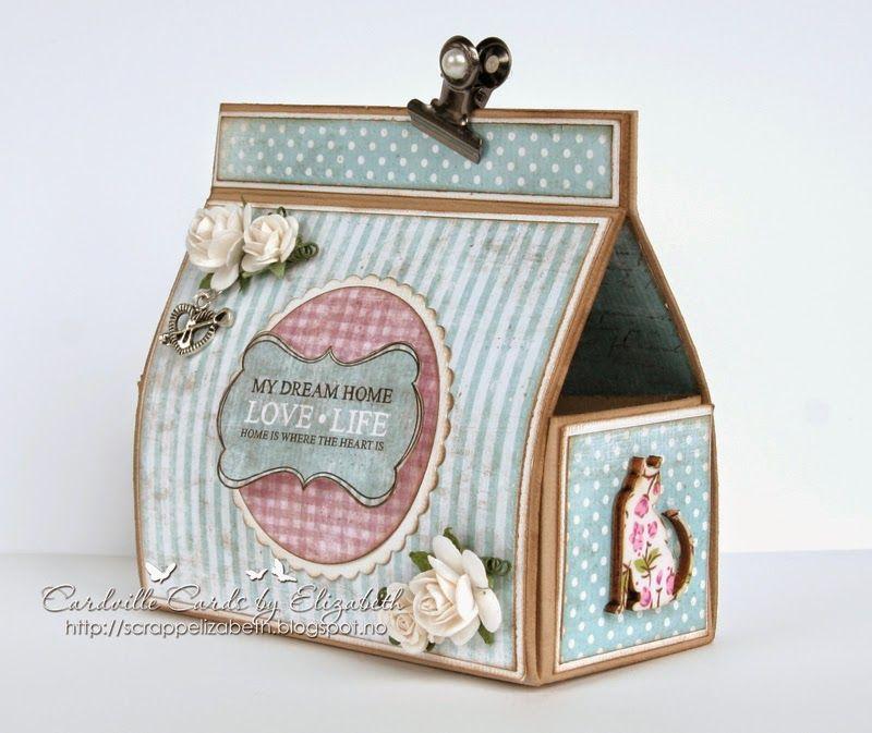 Cardville- Elizabeths Kreative sider: DT Ett Trykk: Giftbox