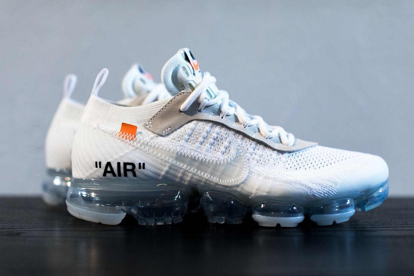 448086e2b3 Virgil Abloh x Nike Air Vapormax White Off-White Tonal Orange Black ...