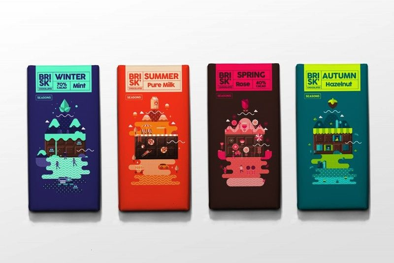 Chocolate Packaging is designed for all seasons  AterietAteriet  Food CultureBRISK Chocolate Packaging is designed for all seasons  AterietAteriet  Food Culture Branding...