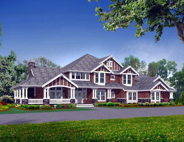 House Plan 87636 | Craftsman Luxury Plan with 6590 Sq. Ft., 5 ...