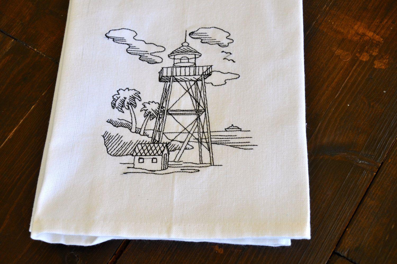 Embroidered Dish Towel, Kitchen Towel, Bath Towel, Hand Towel w/ a ...
