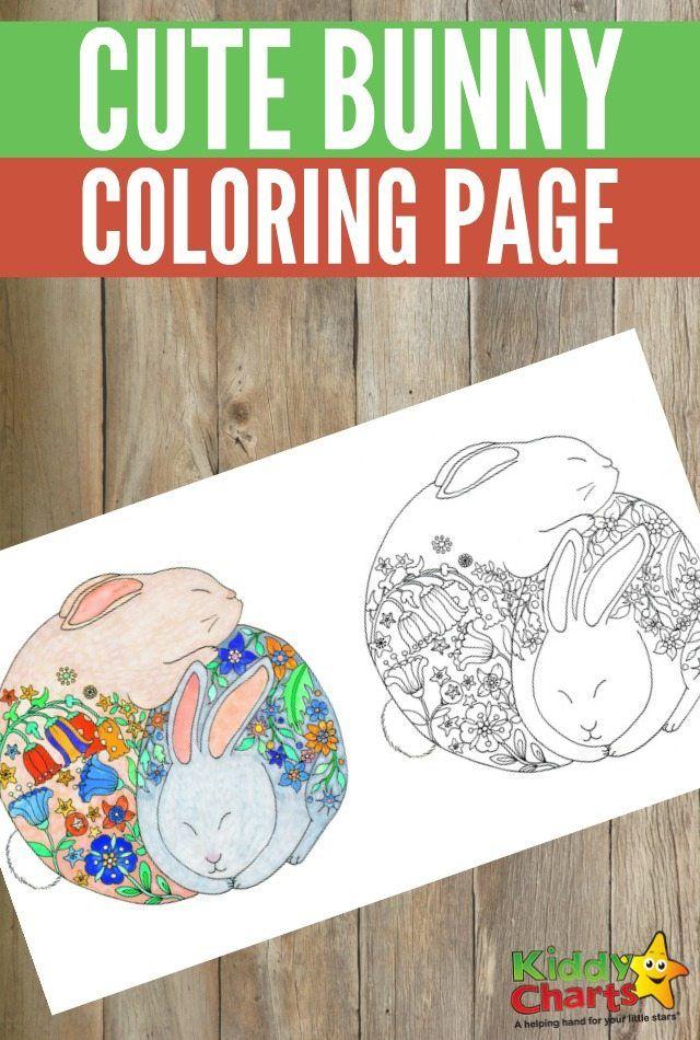 Bunny colouring page from cute animal colouring book | Laminas para ...