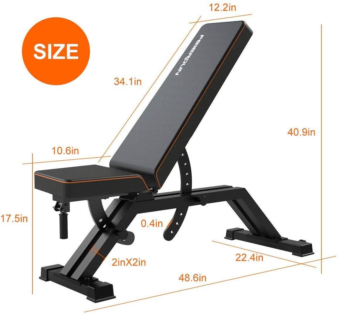 Amazon Com Feierdun Weight Bench Adjustable Heavy Duty Utility Workout Bench Home Gym Ex Aparelho De Musculacao Equipamentos De Fitness Aparelho Musculacao