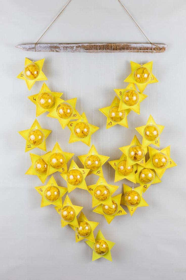 DIY Adventskalender: Sterne aus Acrylkugeln basteln | MrsBerry.de