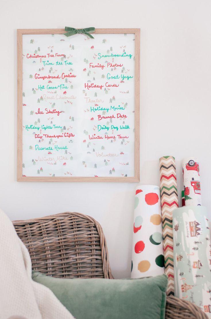 Winter & Holiday Season DIY Bucket List Board –  Love and Specs