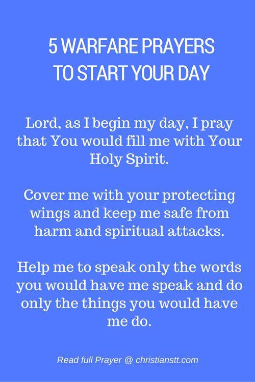 5 Powerful Spiritual Warfare Prayers to Start Your Day - Morning