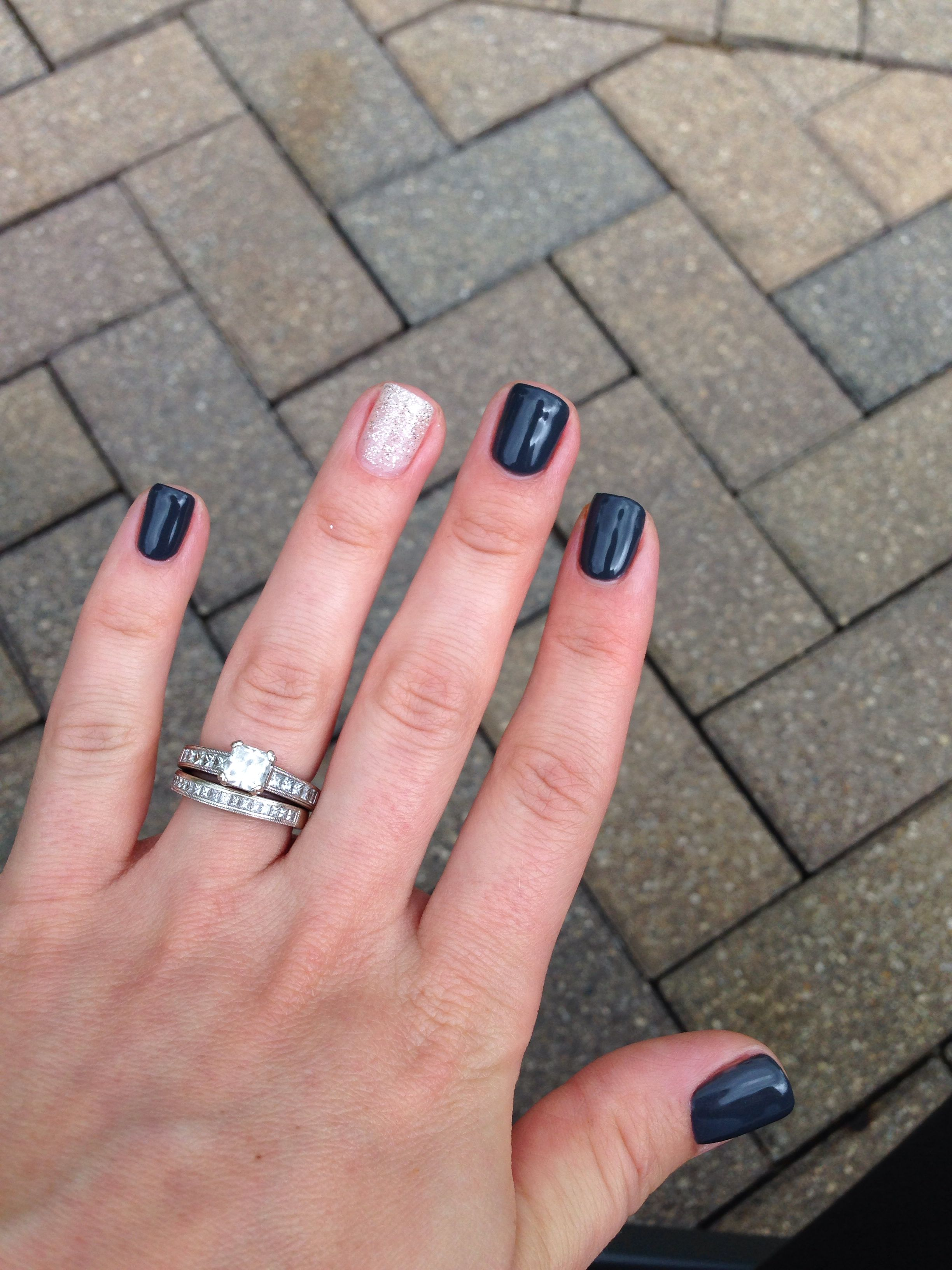 Love my fall nails! (Grey) Asphalt by shellac and (sparkles) my ...
