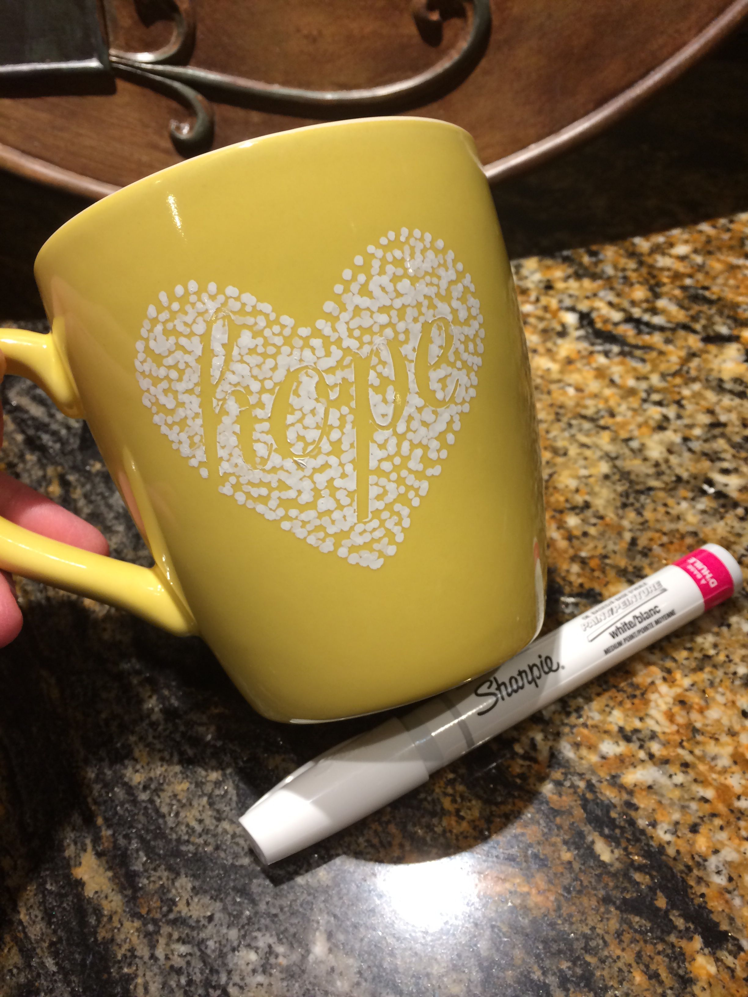 Design your own mug! Using vinyl, cut desired words or designs with ...