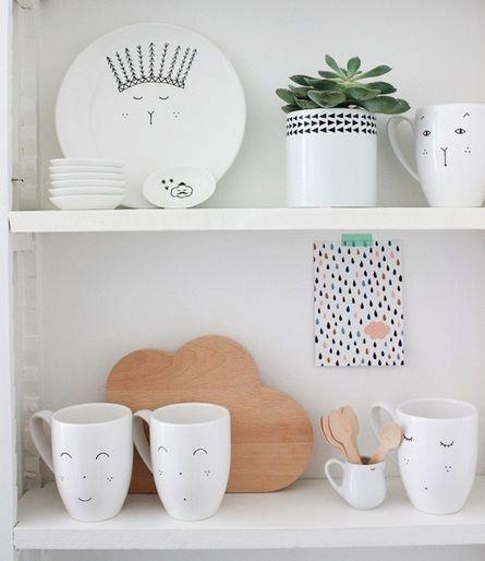 Ideas para decorar tazas blancas | Ideas para Decoracion
