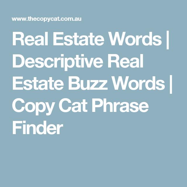 real estate descriptive words