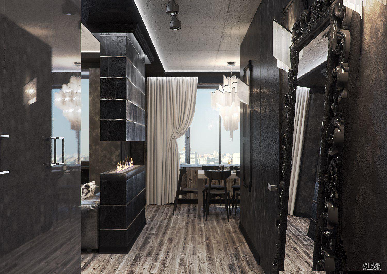 Черный интерьер квартиры