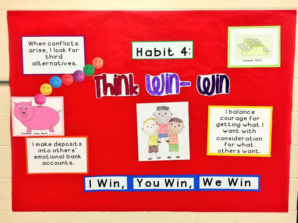 Habit 4 Think Win Win Bulletin Board