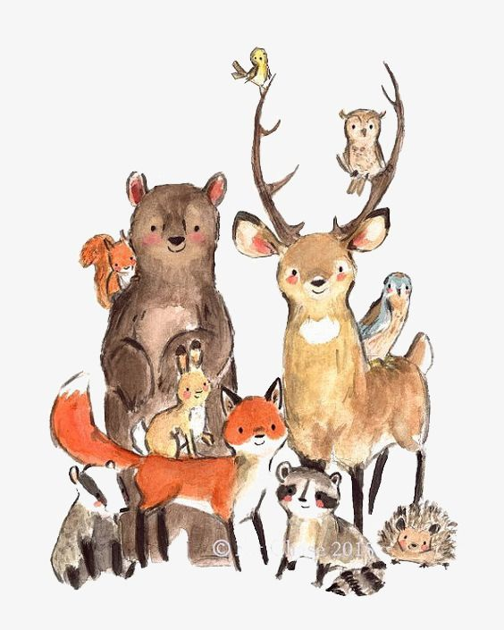Baby Boy Nursery Art, Woodland Nursery Animals, Woodland