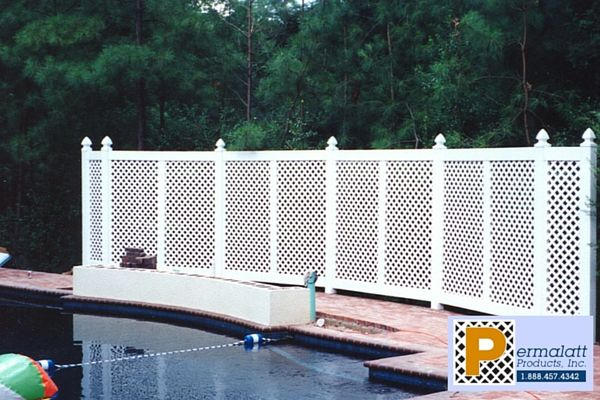 Whether you want to fence in the whole yard or just add a boundary line, vinyl lattice fencing is a perfect option. Check out these possibilities for fencing...