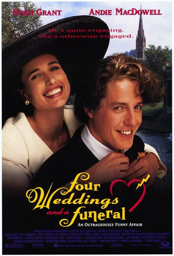 Image Result For Four Weddings And A Funeral Movie Poster Wedding Movies Romantic Movies Movies