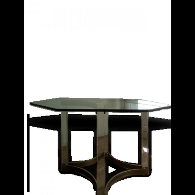 table octogonale design salle manger annes 70 vendu par marie vabre