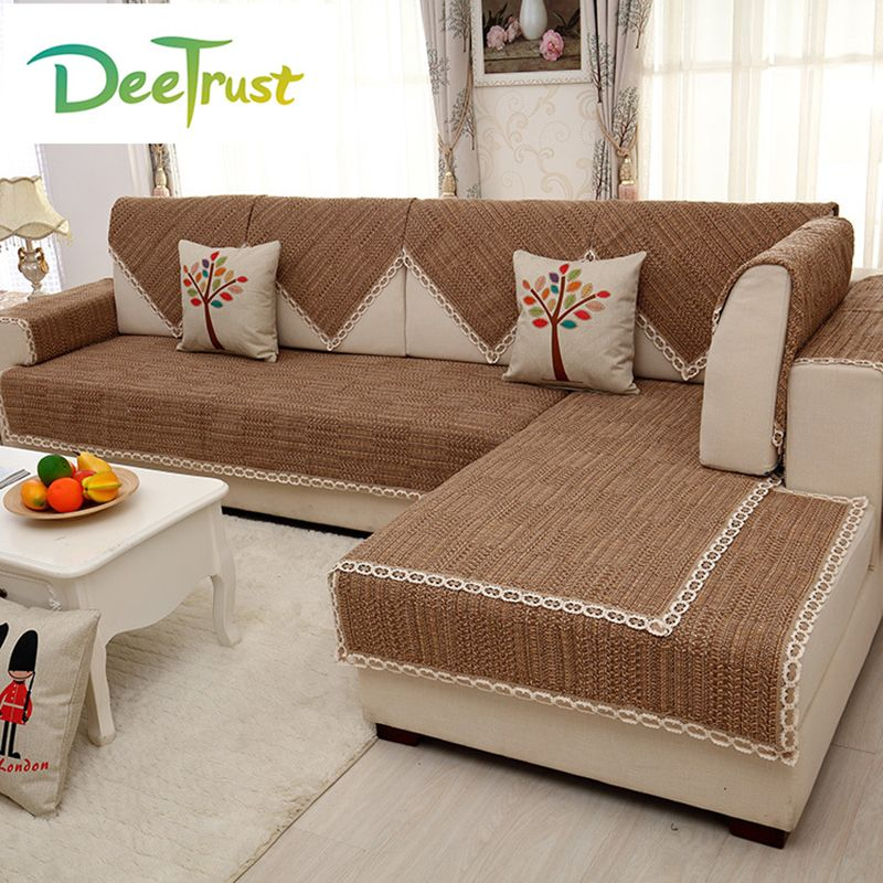 Japan Style Chic Sofa Cover Cotton Linen Fabric Four Seasons