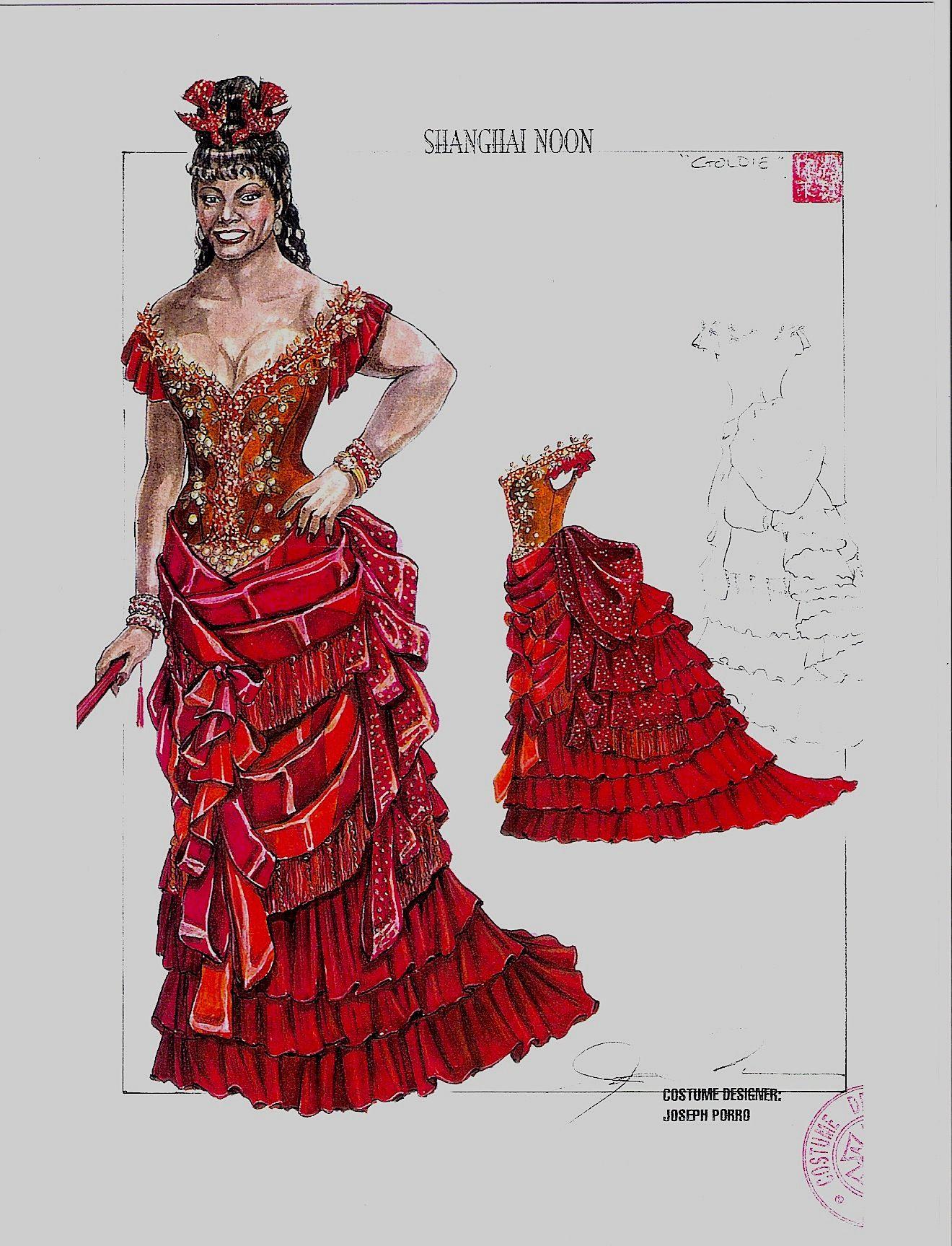Shanghai Noon. Madam Money Tree Dress. Concept