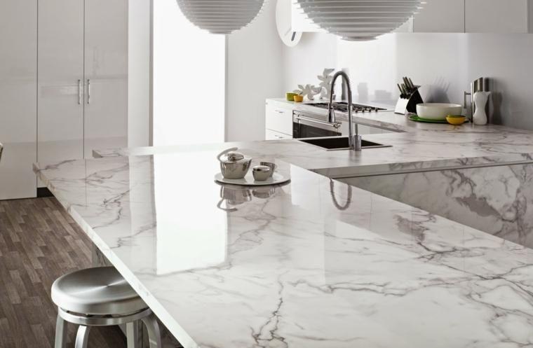 Küchenarbeitsplatten - 66 unglaubliche Ideen von Marmor