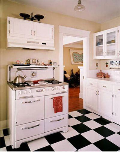 Nice Vintage Stove Vintage Stoves White Kitchen Floor Black
