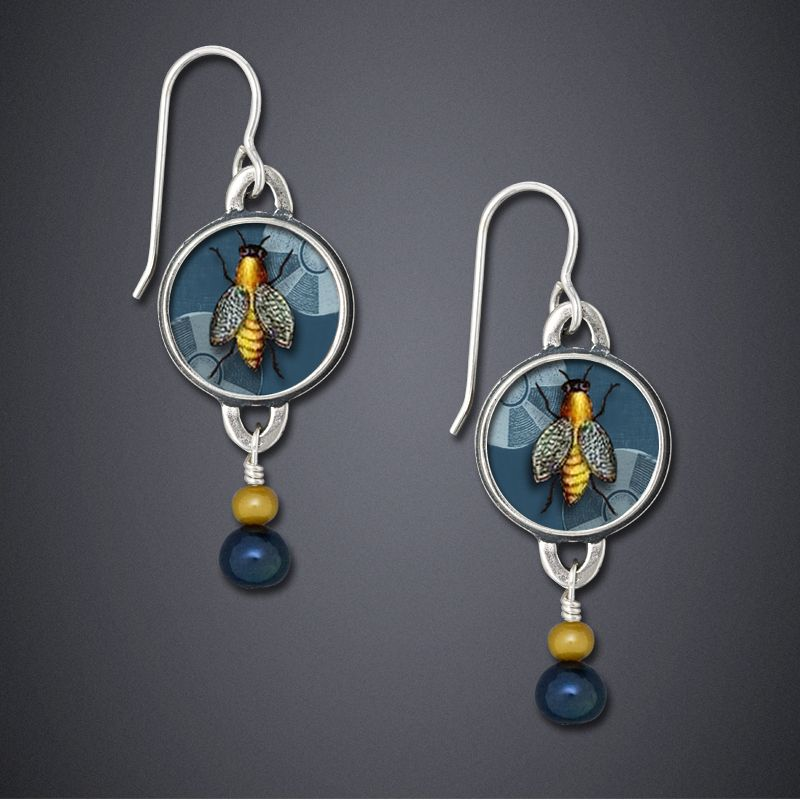 Honeybee Earrings II - bijou graphique