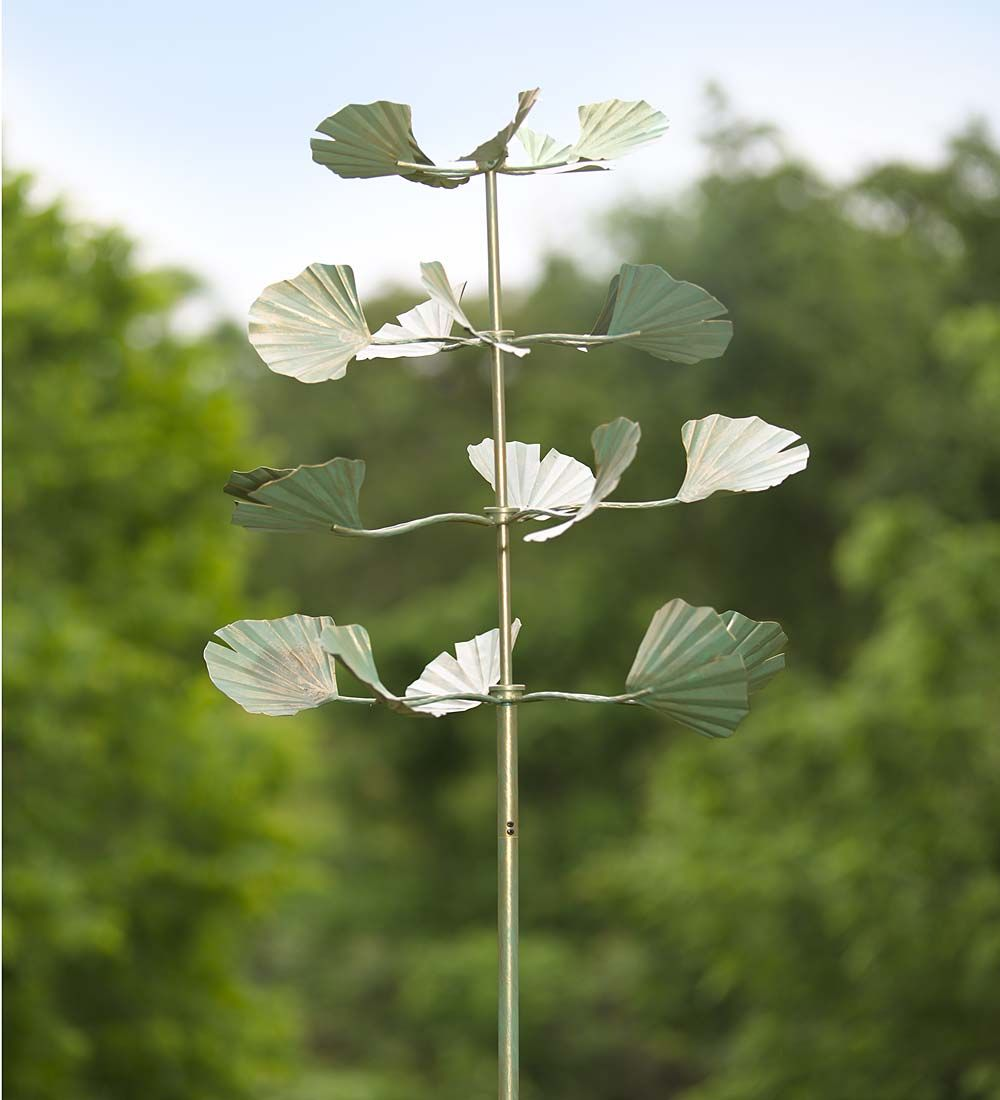 Ginkgo Leaves Metal Wind Spinner | garden art | Pinterest | Wind ...