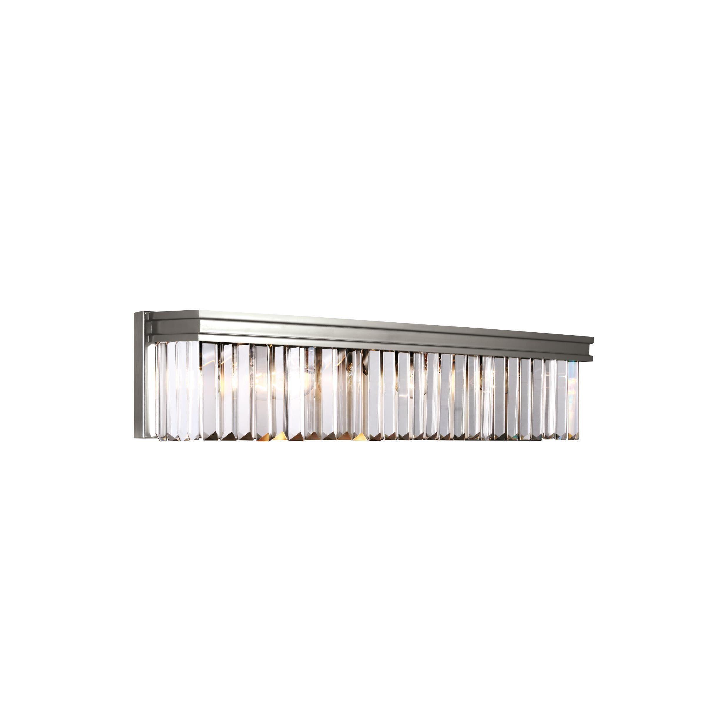 Sea Gull Carondelet 4 Light Brushed Nickel Wall Bath Fixture (Four ...