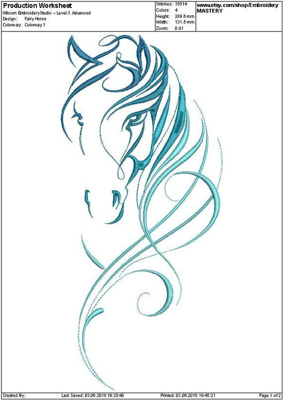 Fairy Horse Machine embroidery Design. Beautiful. Horse. Animal. Quick stitch. 5 sizes. Instant download