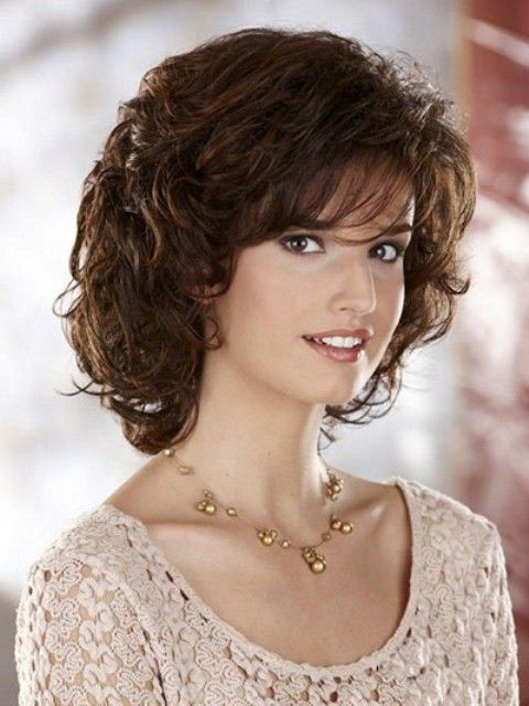 Shoulder Length Haircuts For Thick Wavy Hair Round Face : Medium length curly hairstyles for round faces 2 hair styles