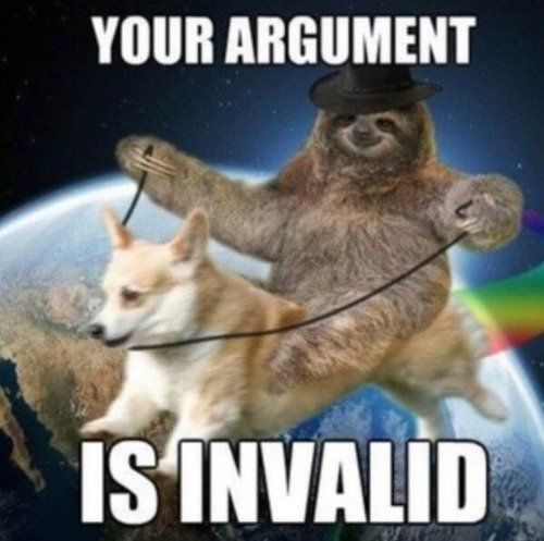 Your argument is invalid | Tru Dat Bro | Cute sloth, Sloth ...