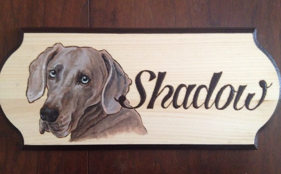 Shadow dog house sign
