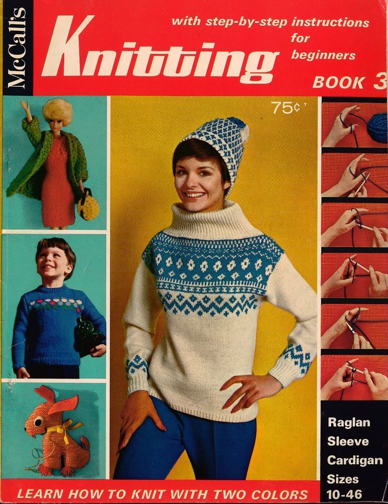 Mccalls Knitting For Beginners Ski Sweater Hat Mittens Barbie