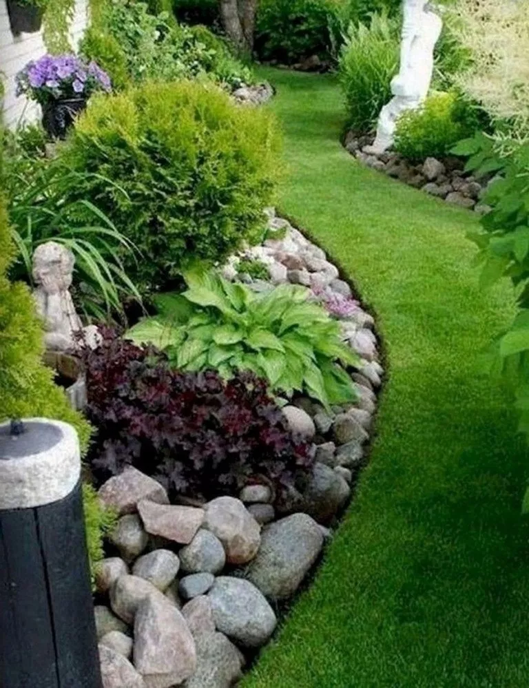45 Small Backyard Landscaping Ideas With Rocks Pool On A Budget 32 Small Front Yard Landscaping Front Yard Landscaping Design Small Yard Landscaping