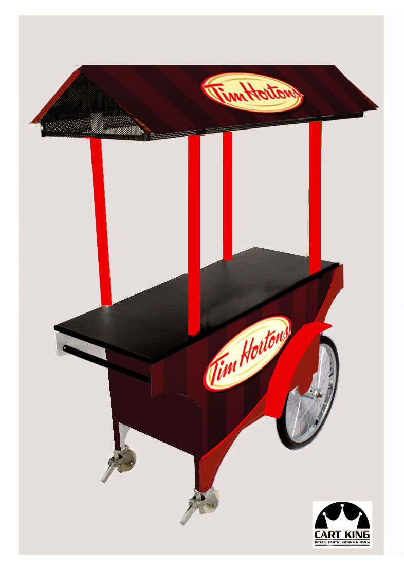 Tim hortons donut kiosk http www cart new for Coffee cart design