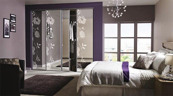 20 Master Bedrooms With Purple Accents Purple Accents Master Bedroom And Sliding Wardrobe Doors