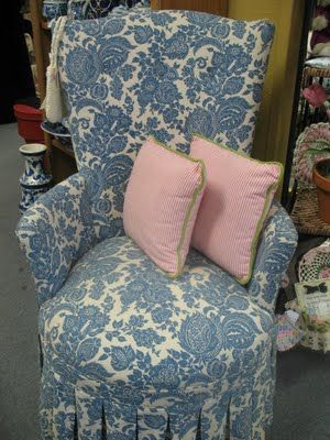 The pillows would be cool in pale pink courderoy