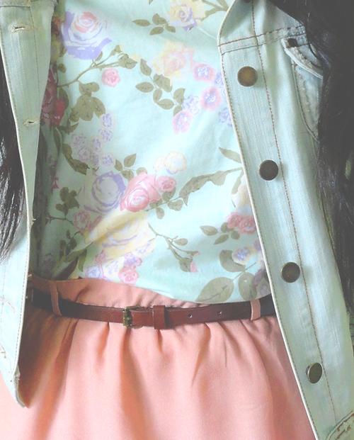 pastels #floral #fashion