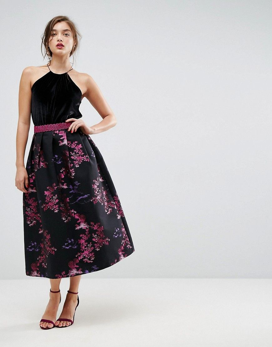 d03a45426f ASOS Jacquard Prom Skirt with Metallic Waistband - Multi | Products ...