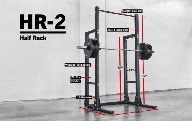 Rogue HR-2 Half Rack - Weight Training - Monster Lite Unit