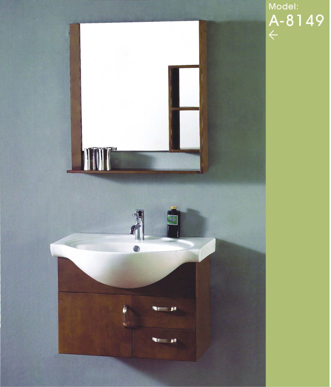 Elegant Compact Bathroom Vanity | Small Bathroom Cabinet China (Mainland) Bathroom  Vanities