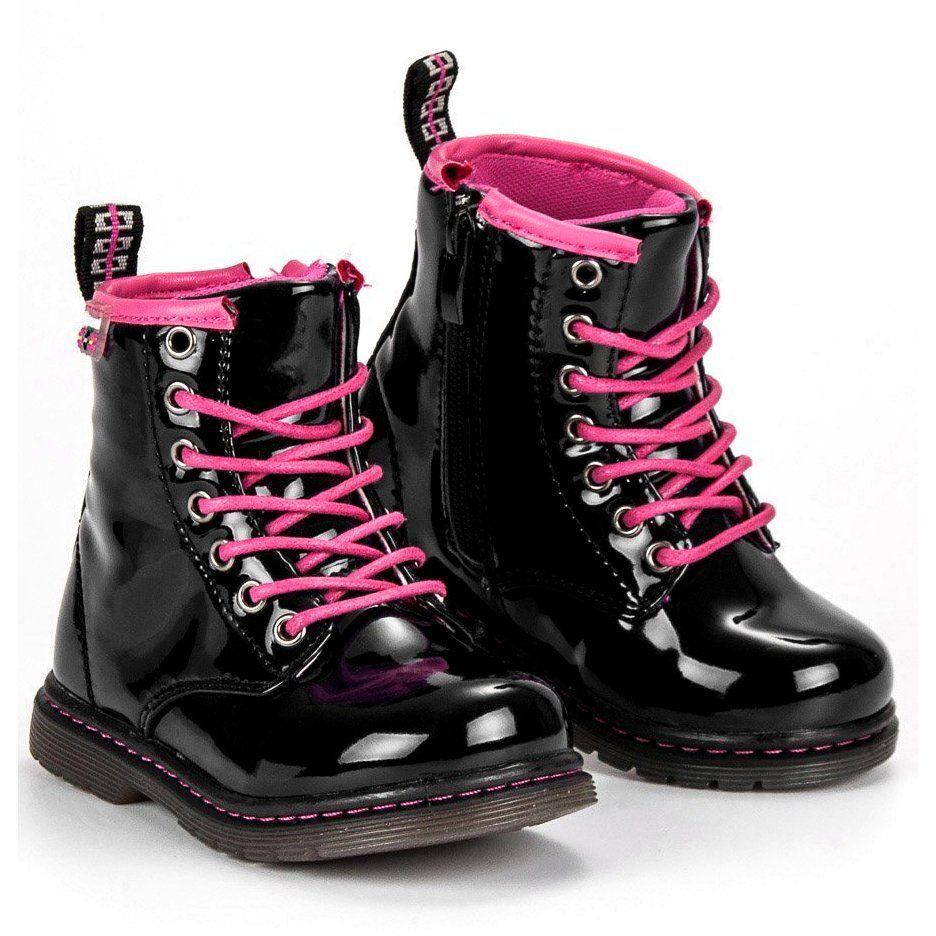 Kalosze Dla Dzieci Americanclub American Club Czarne Lakierowane Trzewiki American Boots Combat Boots Dr Martens Boots