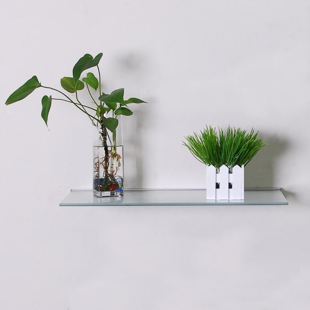 Beau Beauty Floating Glass Shelf And Chic Vases For Mini Garden Design Ideas