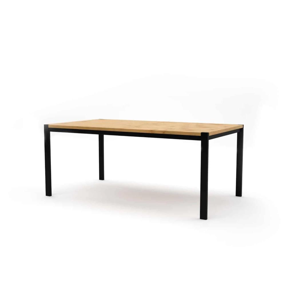 Tisch Ferrum 001 Holz Metall Eiche Schwarz Esstisch Gartentisch Stahlzart Mobelideen Stahlmobel Holztisch Ausziehbar