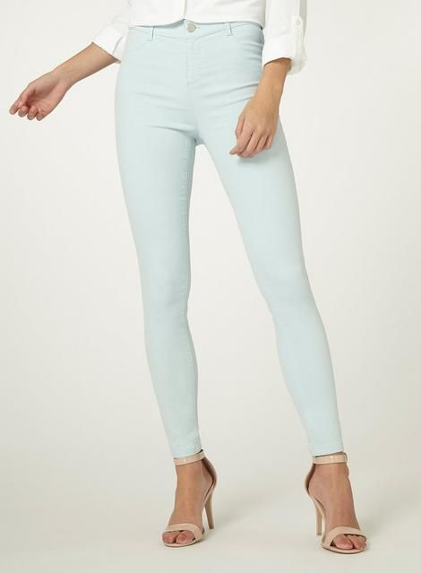 244d255b1a9607 L2018 **Tall Blue 'Frankie' Super Skinny Ankle Grazer Jeans - Jeans -  Clothing - Dorothy Perkins