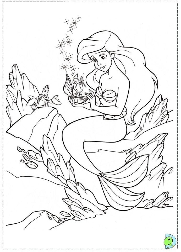 The Little Mermaid Coloring Page Ariel Coloring Pages Mermaid Coloring Pages Princess Coloring Pages