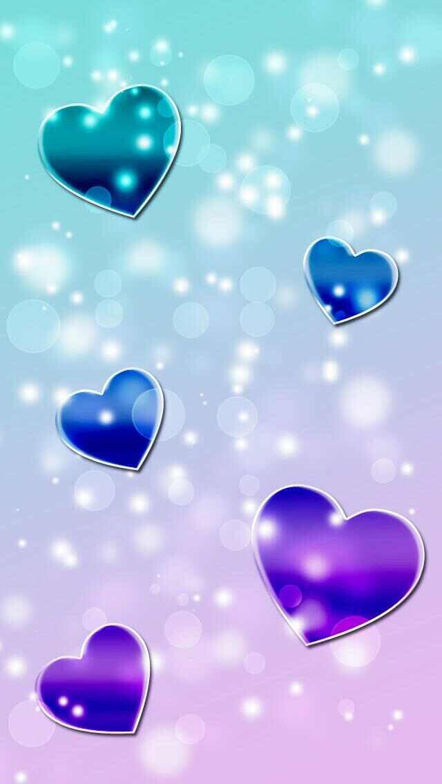 Blue purple hearts wallpaper heart heart wallpaper heart love wallpaper - Lovely wicked iphone wallpaper ...
